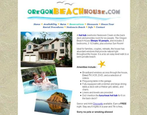 oregon beach house website