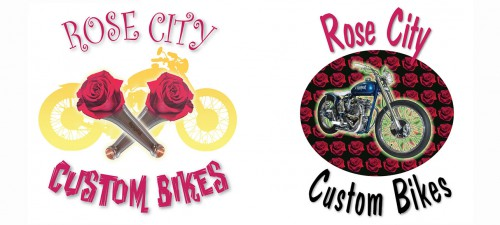 rose city custom bikes alternative logo designs
