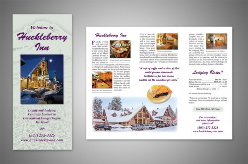huckleberry inn brochure