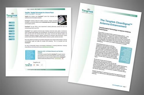 tangitek website and whitepaper designs