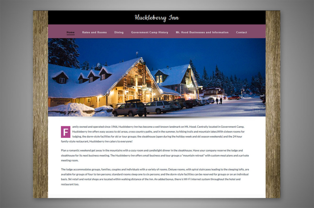 huckleberry inn wordpress website redesign