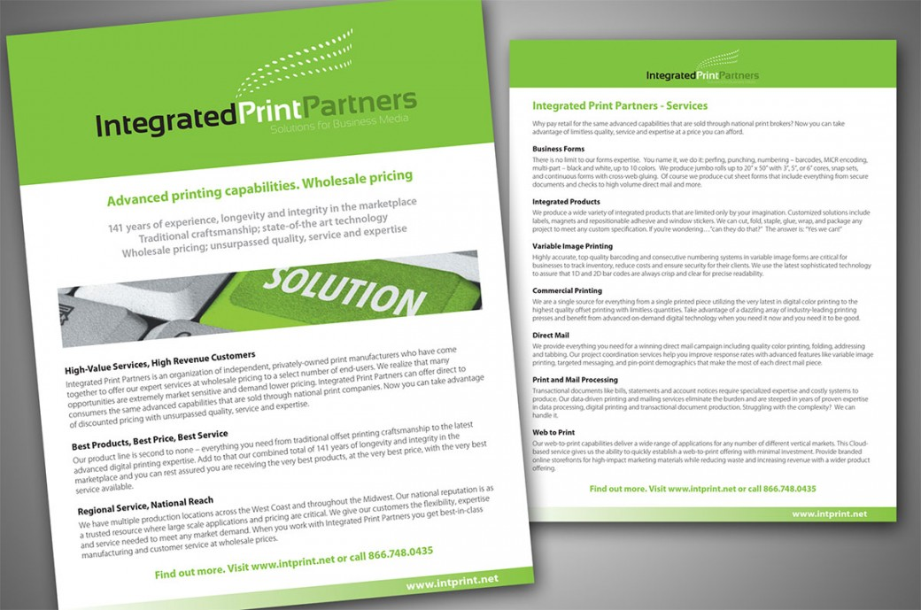 Integrated Print Partners breif