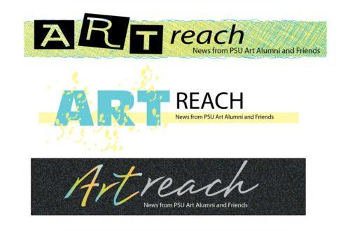 Portland State University Art Alumni Committee Artreach logos