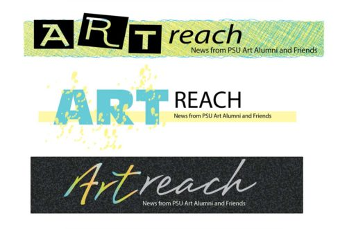 Portland State University Art Alumni Committee Artreach logos