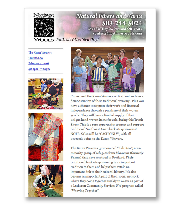 Northwest Wools Newsletter